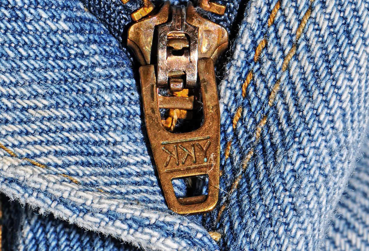 zip dei jeans